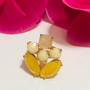Kate Spade Flower Gemstone Oversized Ring